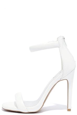 Pop Sensation White Ankle Strap Heels at Lulus.com!