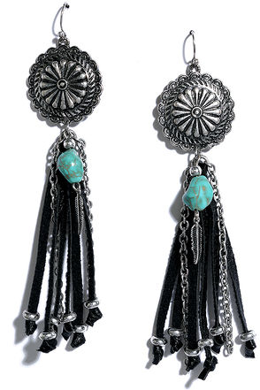 Rivers and Valleys Black and Silver Earrings at Lulus.com!