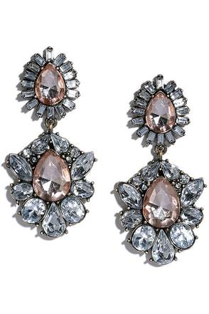 Sugar Fairy Pink Rhinestone Earrings at Lulus.com!