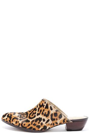 Matisse Clover Leopard Pony Fur Mules at Lulus.com!