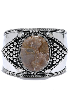 Dream About You Brown and Silver Cuff Bracelet at Lulus.com!