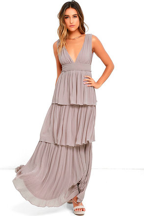 Gently Adrift Taupe Maxi Dress at Lulus.com!