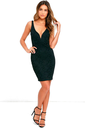 Kiss Me Slowly Wine Red Lace Bodycon Dress at Lulus.com!