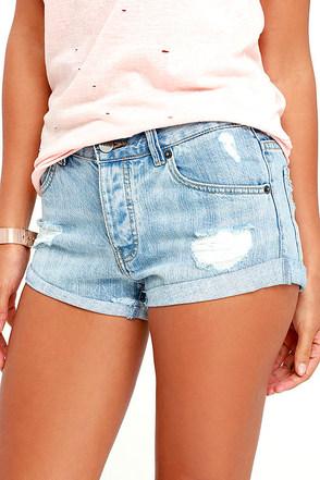 Amuse Society Crossroads Washed Black Denim Shorts at Lulus.com!