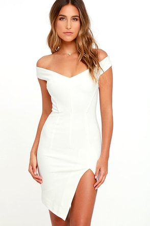 Bless'ed Are the Meek Mohawk White Bodycon Dress at Lulus.com!
