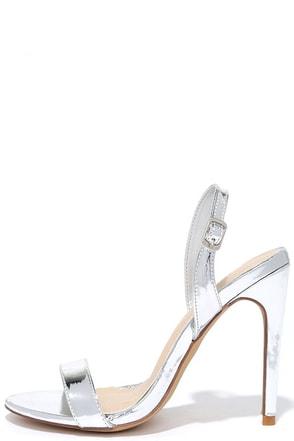 Long-Awaited Debut Silver High Heel Sandals at Lulus.com!