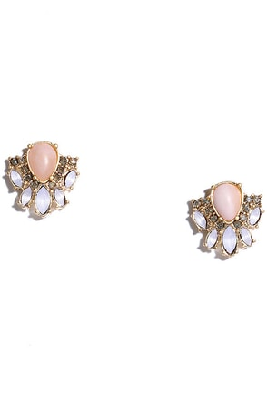 Serene Song Pink Rhinestone Earrings at Lulus.com!