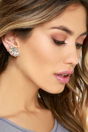 Fresh Flair Blue Rhinestone Ear Cuffs at Lulus.com!