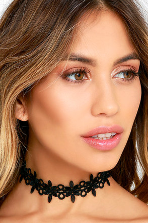 Always Alluring Black Lace Choker Necklace at Lulus.com!