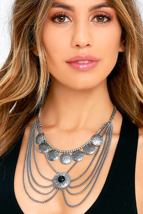 Head Concho Silver Layered Necklace at Lulus.com!