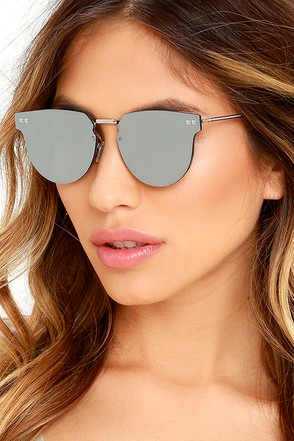 Spitfire Cyber Silver Mirrored Sunglasses at Lulus.com!