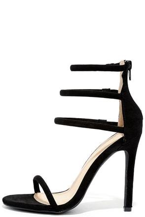 Floor is Yours Black Suede High Heel Sandals at Lulus.com!