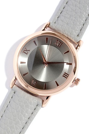 Time of the Season Gold and Beige Watch at Lulus.com!