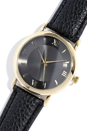 Time of the Season Gold and Black Watch at Lulus.com!