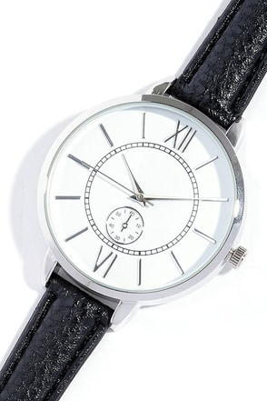 Time and Place Silver and Navy Blue Watch at Lulus.com!