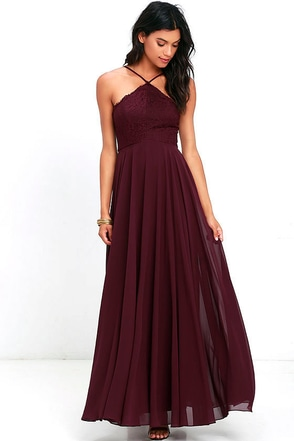 Everlasting Enchantment Burgundy Maxi Dress at Lulus.com!
