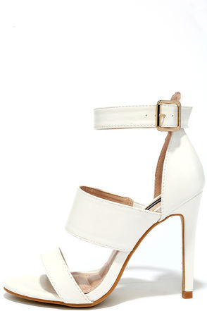 What a Woman White Dress Sandals at Lulus.com!