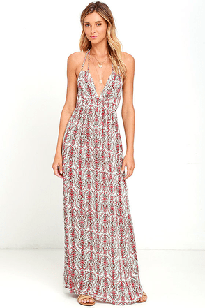 Deliberately Divine Ivory Print Maxi Dress at Lulus.com!