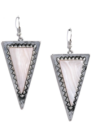 Eternal Moon Silver and White Earrings at Lulus.com!