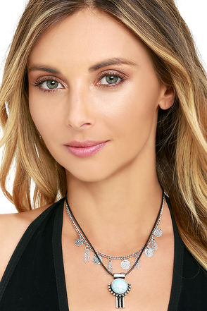 Where and When Black and Silver Layered Choker Necklace at Lulus.com!