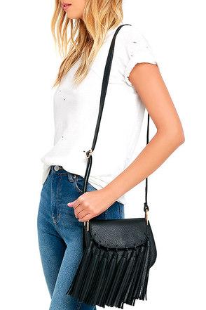 Style Solution Black Tassel Purse at Lulus.com!