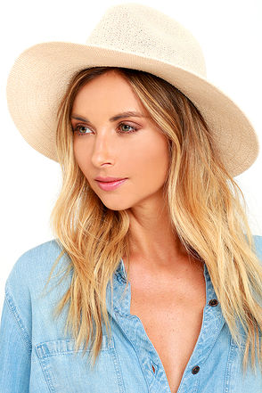 Shades of Sunlight Light Grey Fedora Hat at Lulus.com!