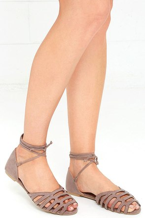 Honey, Please Taupe Suede Lace-Up Flats at Lulus.com!