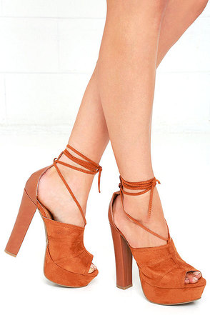 What You Wanna Do Black Lace-Up Platform Heels at Lulus.com!