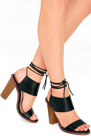 Moon Hop Black Lace-Up Heels at Lulus.com!