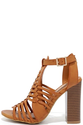 Through My Mind Natural High Heel Sandals at Lulus.com!