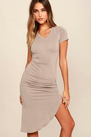 Serene Sunrise Olive Green Bodycon Midi Dress at Lulus.com!