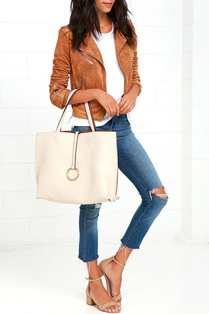 Flip the Script Brown and Cream Reversible Tote at Lulus.com!