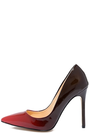 Daya by Zendaya Atmore II Red and Wine Patent Ombre Pumps 1