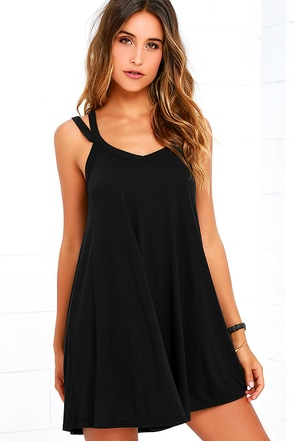 RVCA Like It Black Swing Dress at Lulus.com!