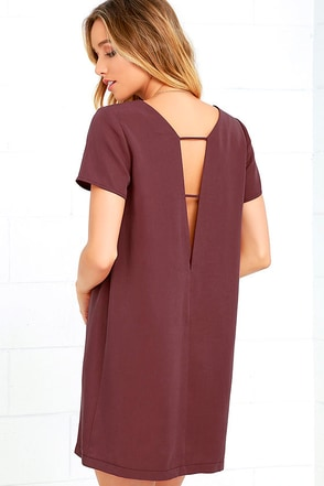Mumbai the Way Washed Burgundy Shift Dress at Lulus.com!
