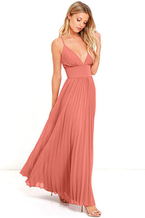 Depths of My Love Terra Cotta Maxi Dress at Lulus.com!
