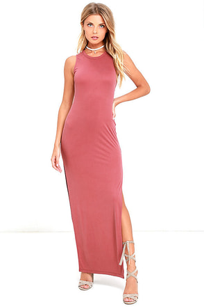 Fifth Avenue Rusty Rose Maxi Dress at Lulus.com!