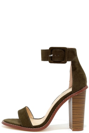 Running This Beige Suede Ankle Strap Heels at Lulus.com!