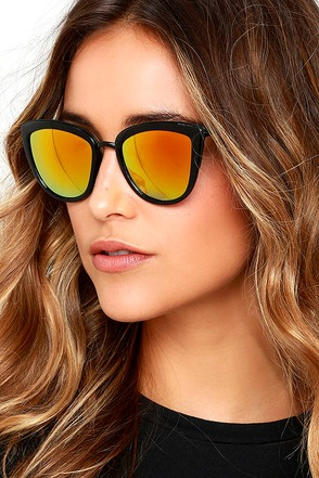 Stun and Go Dark Brown and Yellow Sunglasses at Lulus.com!