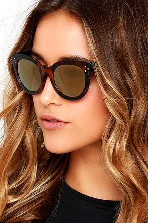 Wowie Zowie Blush and Brown Marbled Sunglasses at Lulus.com!