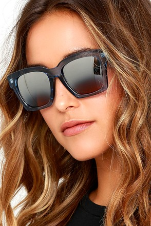 Knock Blue and Silver Mirrored Sunglasses at Lulus.com!