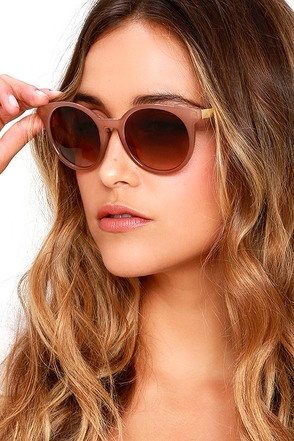 Totally Chill Brown Sunglasses at Lulus.com!