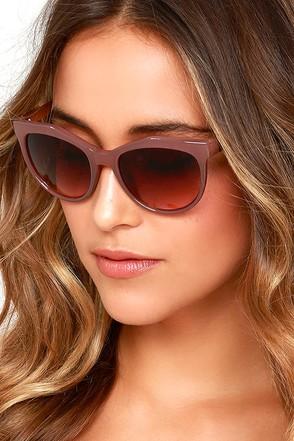 Feeling Great Dark Red Sunglasses at Lulus.com!