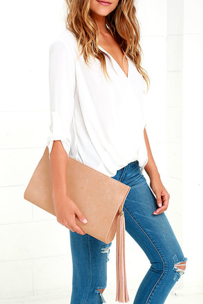 Heyday Honey Olive Green Clutch at Lulus.com!