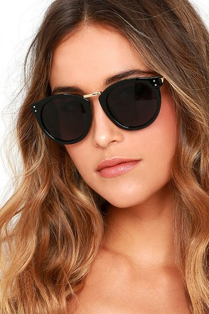 Marty Gold and Black Sunglasses at Lulus.com!