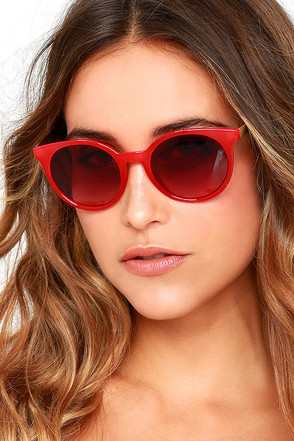 Totally Chill Red Sunglasses at Lulus.com!