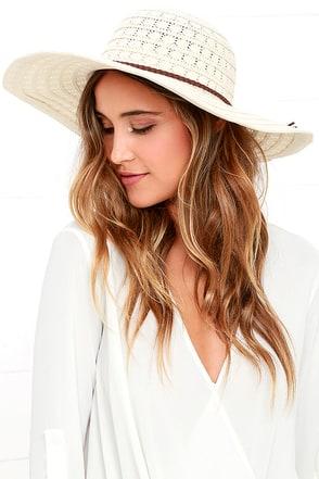 Promenade Promises Cream Lace Hat at Lulus.com!