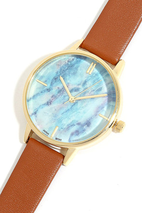 Carrara Gold and Tan Watch at Lulus.com!