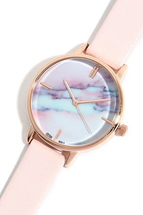 Carrara Gold and Blush Pink Watch at Lulus.com!