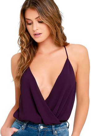 Well Dressed Purple Bodysuit at Lulus.com!
